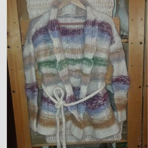 Mes Desmoiselles Lucky Striped Mohair Cardigan